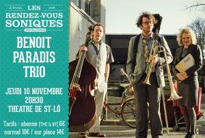 Benoit Paradis trio aux Rendez-Vous Soniques